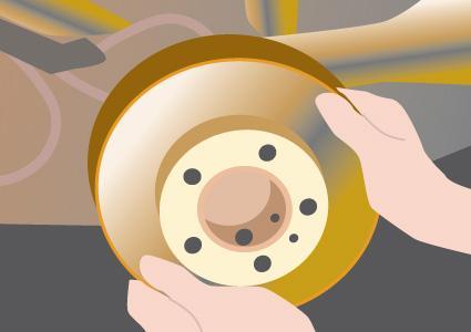 Installing new brake rotors