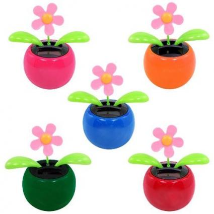 Solar Power Dancing Flower car accessory