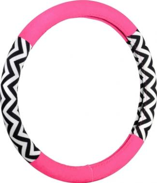 Pink and black steering wheel cover at Amazon.com