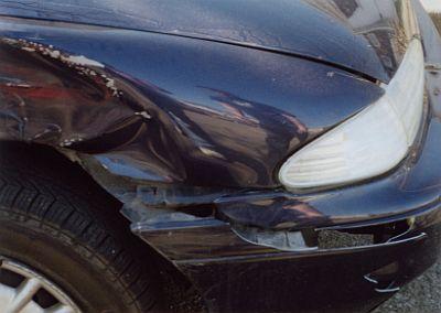 large car dent