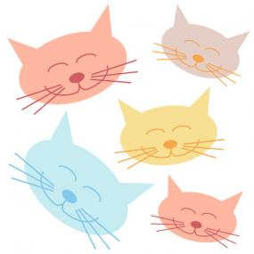 Happy cat face clip art