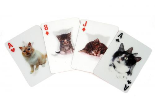 3D Cat Playing Cards