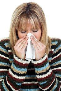 Allergic woman
