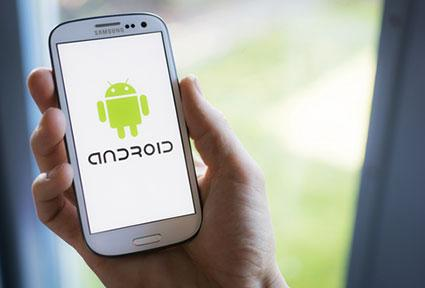 Android Mobile Phone Operating System On Samsung Smartphone; © Twindesign / Dreamstime.com