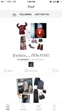 Screenshot of Polyvore Mobile Shopping App