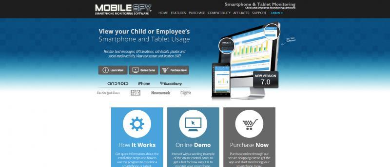 Screenshot of Mobile Spy
