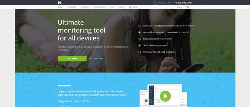Screenshot of mSpy