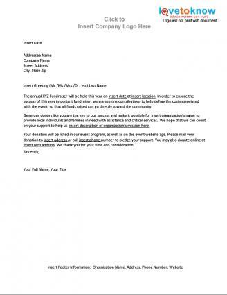 charity letter sample. thank you for your sponsorship sample letter ...