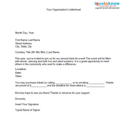 Samples of Non Profit Fundraising Letters – Letter for Sponsorship for Event