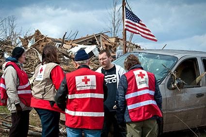 2012 Indiana tornado American Red Cross workers