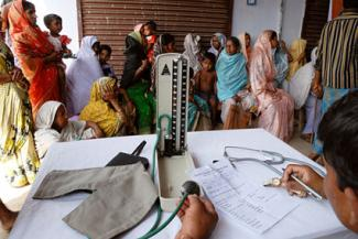 Medical camp in the remote village of Jharkhand, India