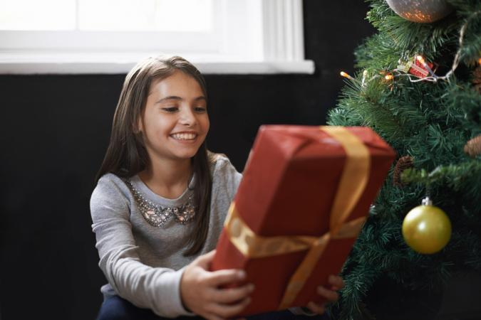 Excited about opening present