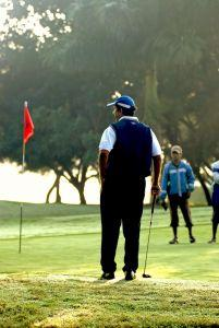 Golfer at tournament