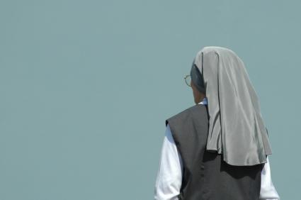 Woman wearing a habit