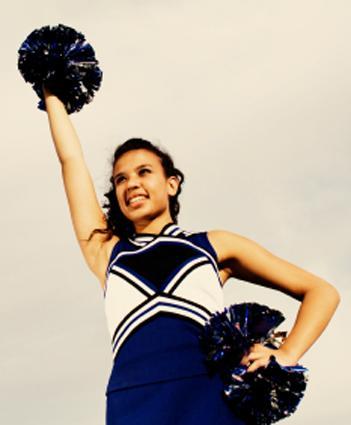 Cheerleader on field