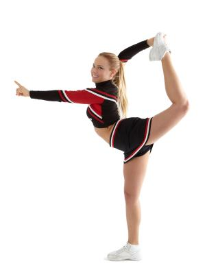 Cheerleader stretching