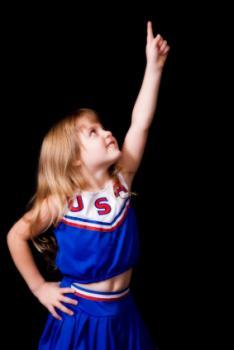 Elementary school cheerleader