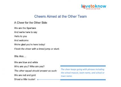 hello cheers aimed at other team printable