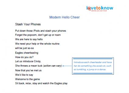 printable of modern hello cheer