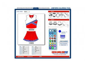Cheerleading.com Design Tool