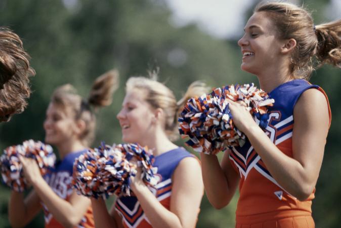 Cheerleaders on the sideline