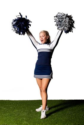 Animated Clipart for Cheerleaders