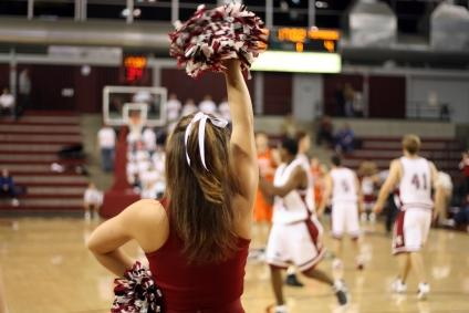 Cheerleader at a basketball game
