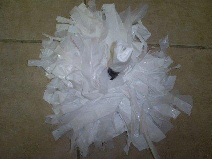 23.11.2009. Как изготовить помпон для черлидинга самостоятельно.