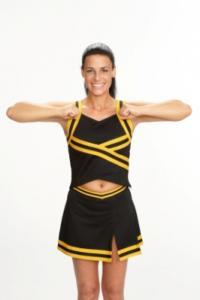 cheerleading showing broken T motion
