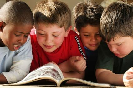 boys reading books