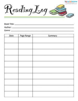 reading log with summary template - printable reading logs with summary book covers