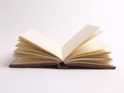 A blank book.