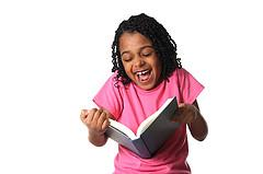 laughing reader