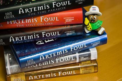 Artemis Fowl stack of books