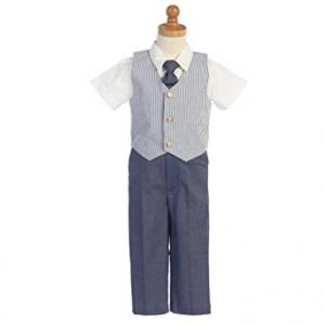 Lito Blue Seersucker Vest set at Amazon
