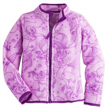 Disney Girls Ariel Fleece Jacket