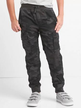 Jersey-lined cargo joggers