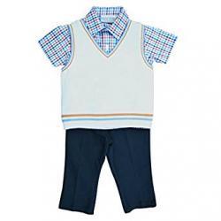 Boys 3-Piece Sweater Vest Set