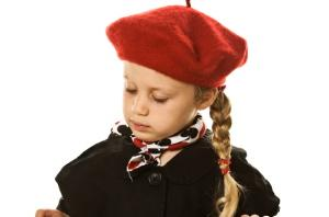 The classic children's beret is still popular.