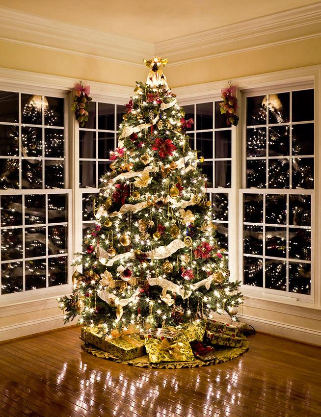Pictures of decorated christmas trees slideshow House beautiful christmas trees