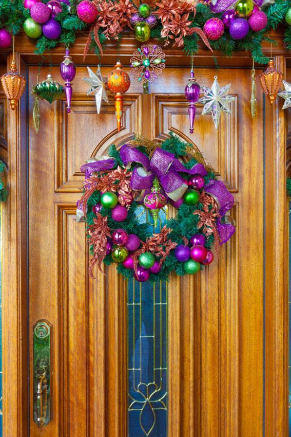 Front Door Christmas Decoration Ideas  LoveToKnow