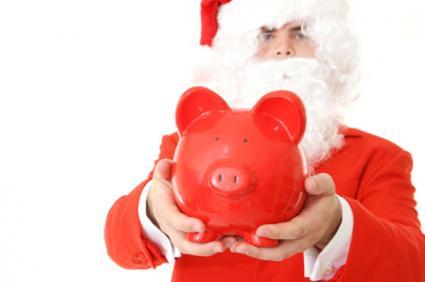 Santa's piggy bank