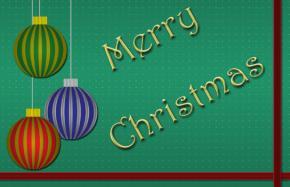 Ornament printable Christmas card