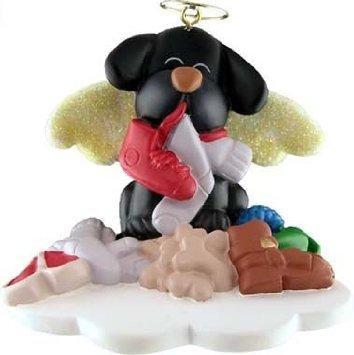 Black dog Christmas ornament from Amazon.com
