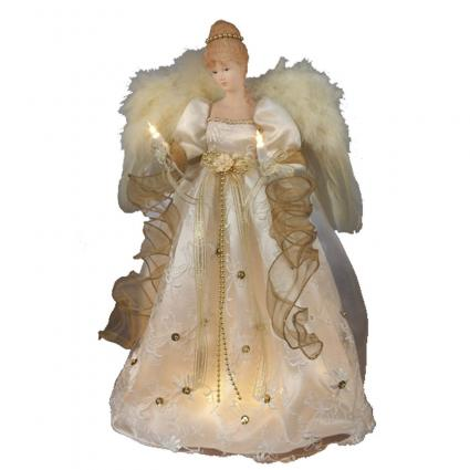 Kurt Adler Ivory and Gold Tree Topper from Amazon.com