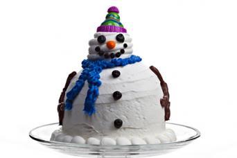 3D Snowman Cake