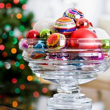 Ornament filled bowl