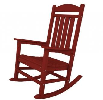 red rocking chair