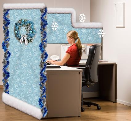 winter wonderland cubicle