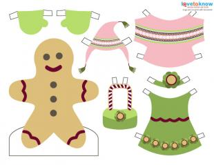 Click to print the colorful gingerbread girl.